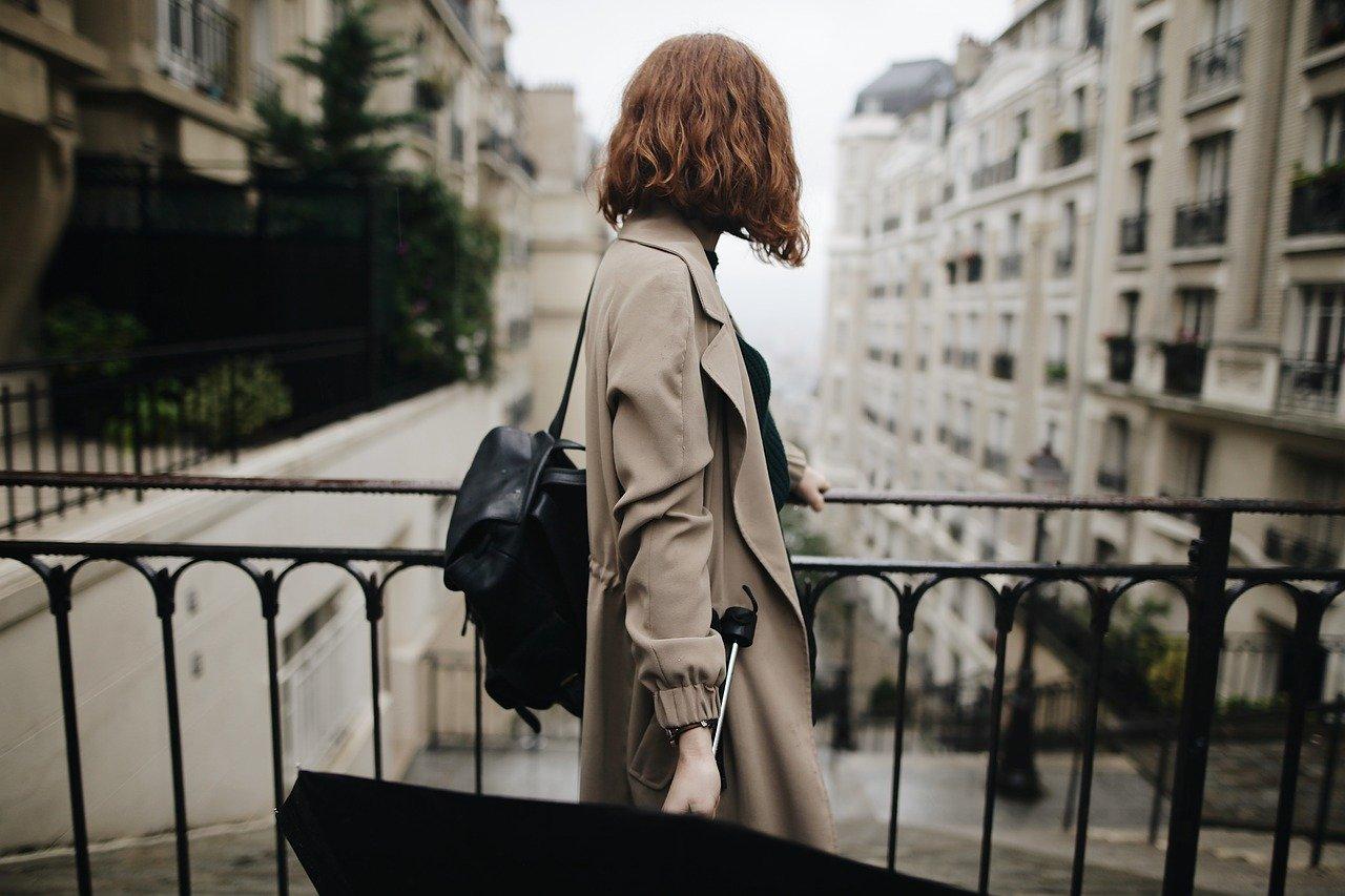 girl, rain, femininity