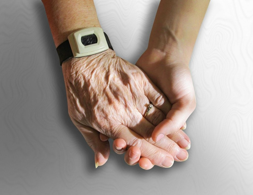 hands, old, young